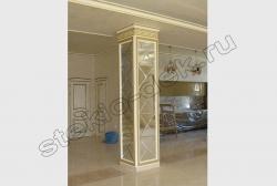 Zerkala s facetom na kolonne obshhestvennogo zdanija (2)