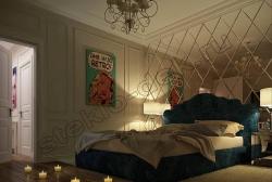 Zerkala s facetom v inter'ere spal'ni (1)