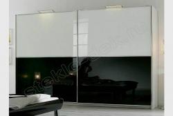 Dveri shkafa-kupe iz lakirovannogo stekla LAKOBEL'' 9005 chernyj (1)