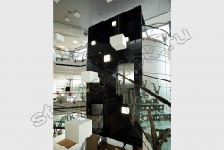 Otdelka sten krashenym steklom LAKOBEL'' 9005 chernyj (3)