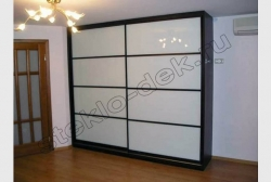 Dveri shkafa-kupe iz lakirovannogo stekla LAKOBEL'' 9010 belyj (1)