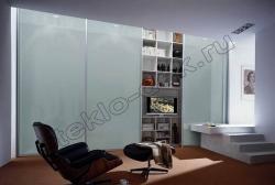 Dveri shkafa-kupe iz lakirovannogo stekla LAKOBEL'' (holodnyj belyj) (2)