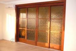 Razdvizhnye dveri s uzorchatym steklom Del'ta (2)