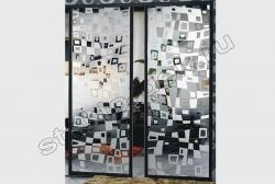 Razdvizhnye dveri s zerkalom ILLJuZIJa (SMC-042) bescvetnoe
