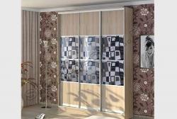 Razdvizhnye dveri shkafa s matirovannym zerkalom ILLJuZIJa (SMC-042) bescvetnoe (1)