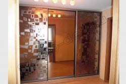 Razdvizhnye dveri shkafa s matirovannym zerkalom ILLJuZIJa (SMC-042) bescvetnoe (2)