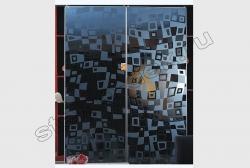 Shkaf kupe s primeneniem zerkala ILLJuZIJa (SMC-042) seroe