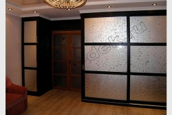 Dveri shkafa s dekorativnym matirovannym zerkalom KOLOTYJ LED (SMC ODG-006)
