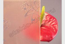 Steklo uzorchatoe Buket bronza matirovannyj (1)
