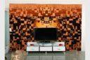 Zerkalo dekorativnoe matovoe zolotoe ILLJuZIJa (SMC-042) (1)