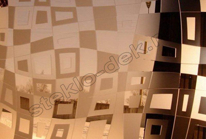 Zerkalo dekorativnoe matovoe zolotoe ILLJuZIJa (SMC-042) (2)
