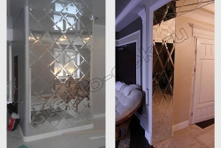 Zerkal'naja plitka s facetom na kolonnah i polukolonnah v inter'ere (1)