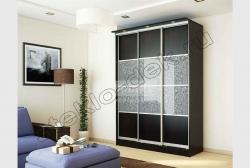 Shkaf kupe s primeneniem dekorativnogo matovogo zerkala ALLEGRO (SMC-012) (5)