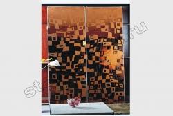 Shkaf kupe s primeneniem zerkala ILLJuZIJa (SMC-042) zolotoe
